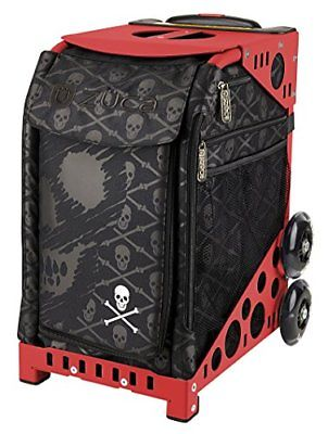ZUCA Bag Skulls Insert & Red Frame w/ Flashing Wheels