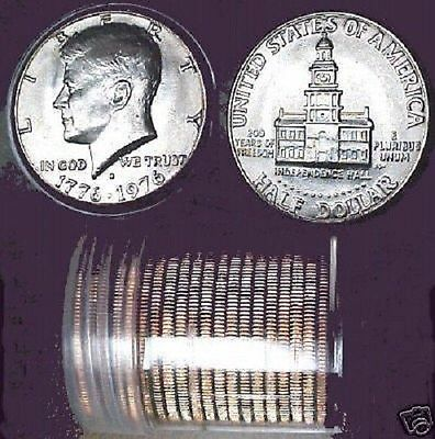 ORIGINAL CHOICE BU 1976 P KENNEDY HALF DOLLAR ROLL (20)