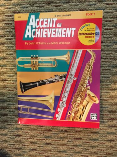 Accent on Achievement Bb Bass Clar.Book 2----2 CDs in 1 by O'Reilly/Williams(4a)