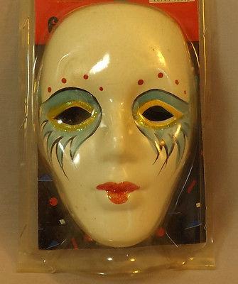 Ceramic Painted Mask Mardi Gras Theater Decor Mask Wall Hanging Decoration