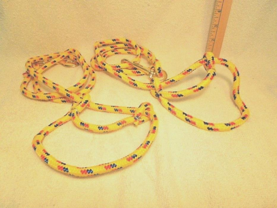 Two Poly Rope Goat or Sheep Halters with Clip