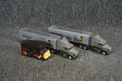 1 Ups Delivery Truck & 2 Ups 18 Wheeler Trucks Toy Cars