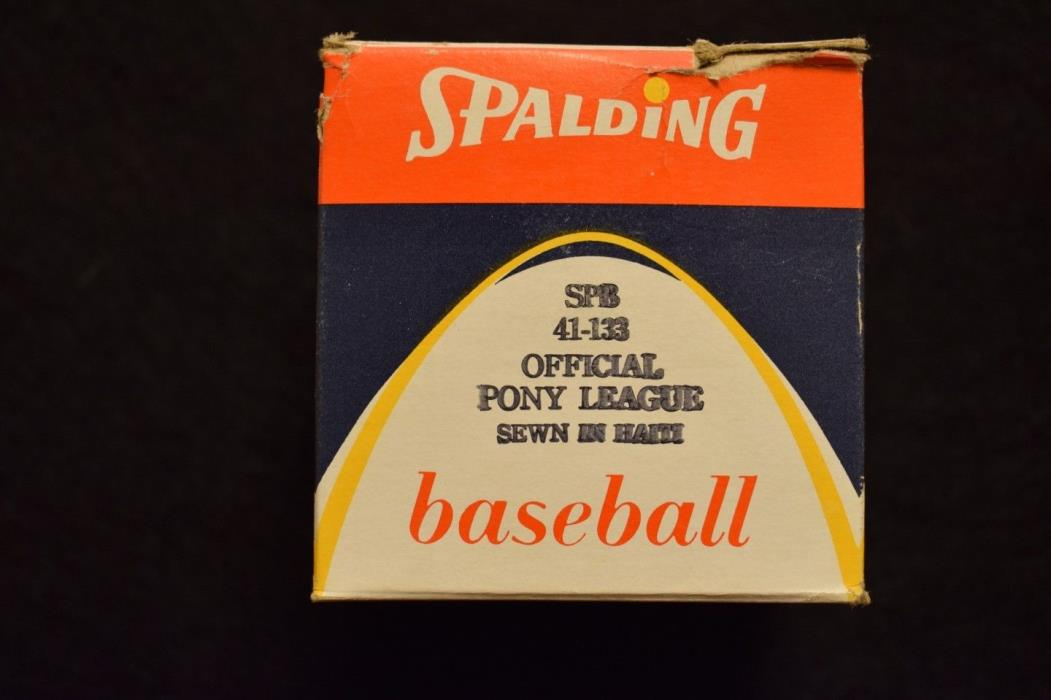 Official Spalding Pony League Game Baseball Unopened Minor Leagues OML Rawlings