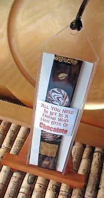 Friends and Chocolate OOAK Bookmark~Linda Lee Taylor Designs~FREE SHIP BMK26