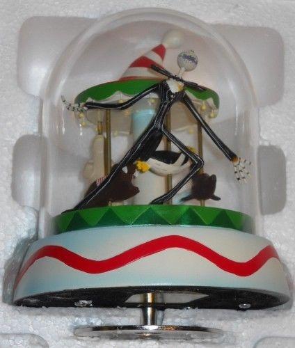 tim burton nightmare before christmas dome vignette music box skellington - Nightmare Before Christmas Music Box