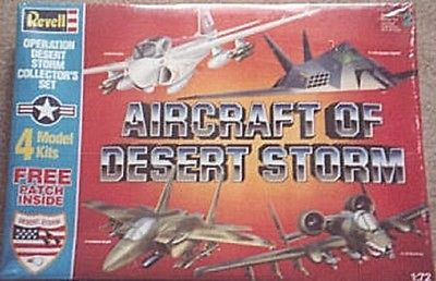 REVELL 1/72 Scale Plastic 4 Airplane Set Model Kits Vintage Desert Storm NISB