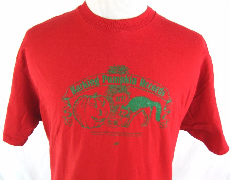 BARKING PUMPKIN RECORDS VINTAGE 1992 EXTREMELY RARE FRANK ZAPPA T SHIRT TEE RED