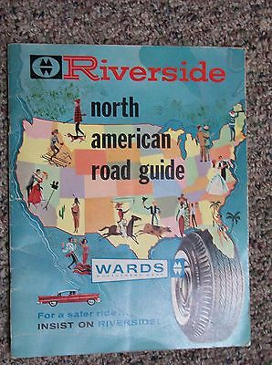 1959 MONTGOMERY WARD RIVERSIDE TIRES NORTH AMERICAN ROAD GUIDE RAND McNALLY