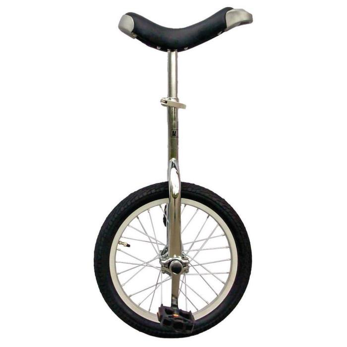 Gray Fun Chrome Finish Frame 20 in. Aluminum Wheel Unicycle with Alloy Rim