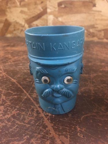 Captain Kangaroo Blue Plastic Tumbler Cup w/ Flicker eyes  robert keeshan