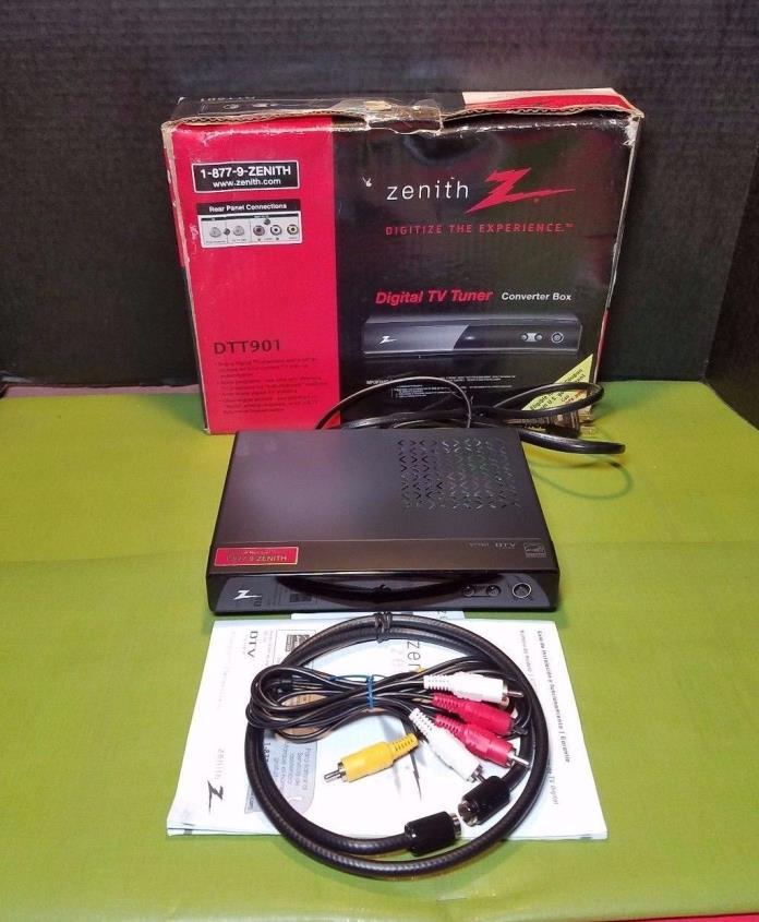 Zenith DTT901 Digital TV Tuner Converter Box Cable Analog Digital