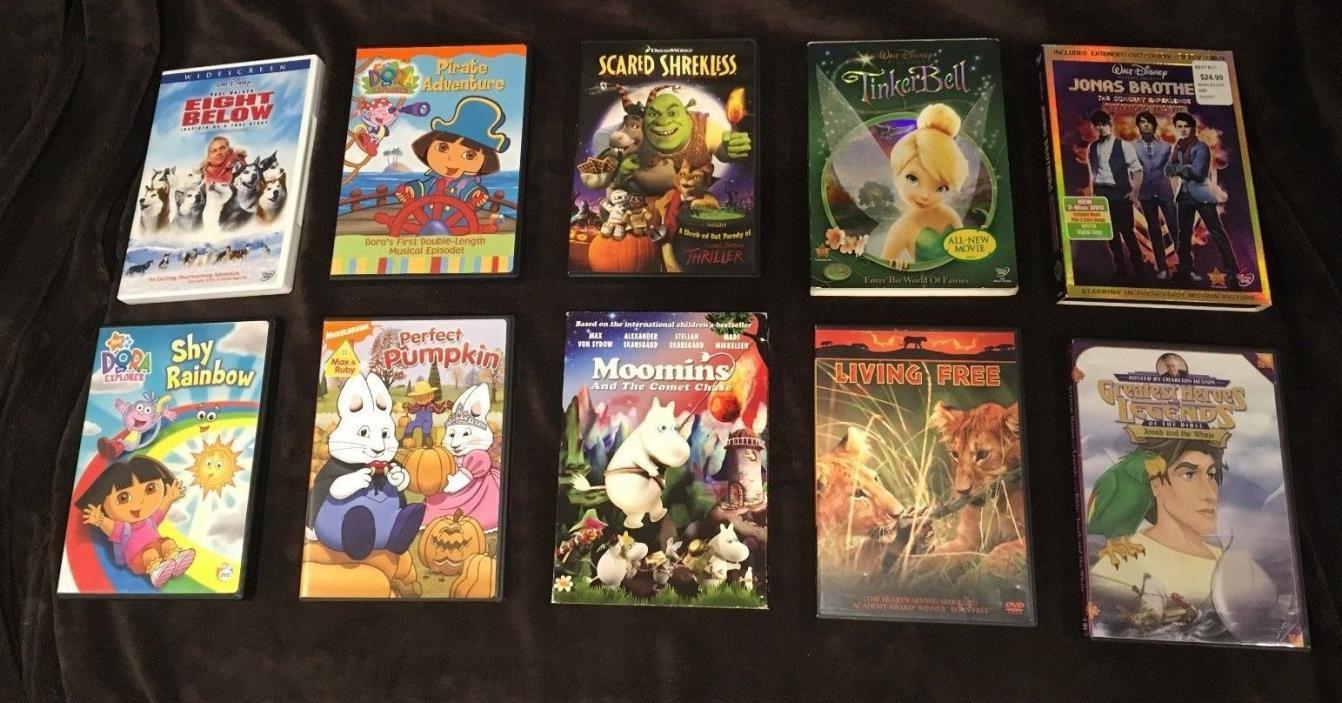 Lot of 50 Children's Kids Family Friendly Movies DVD, Blu-ray