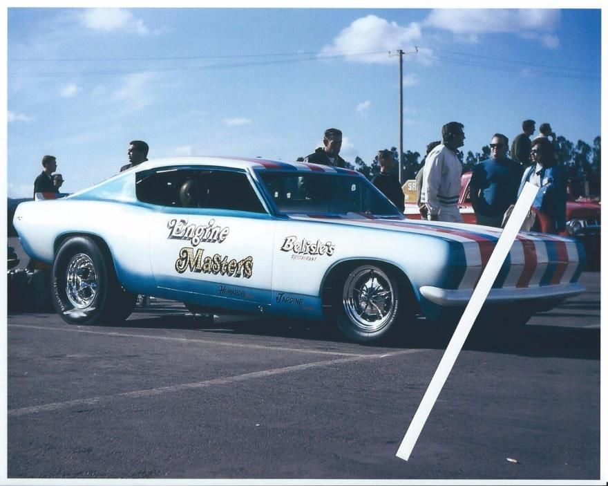 1960s Drag Racing-Engine Masters-Ray Alley-'69 Hemi Powered 'Cuda Funny Car