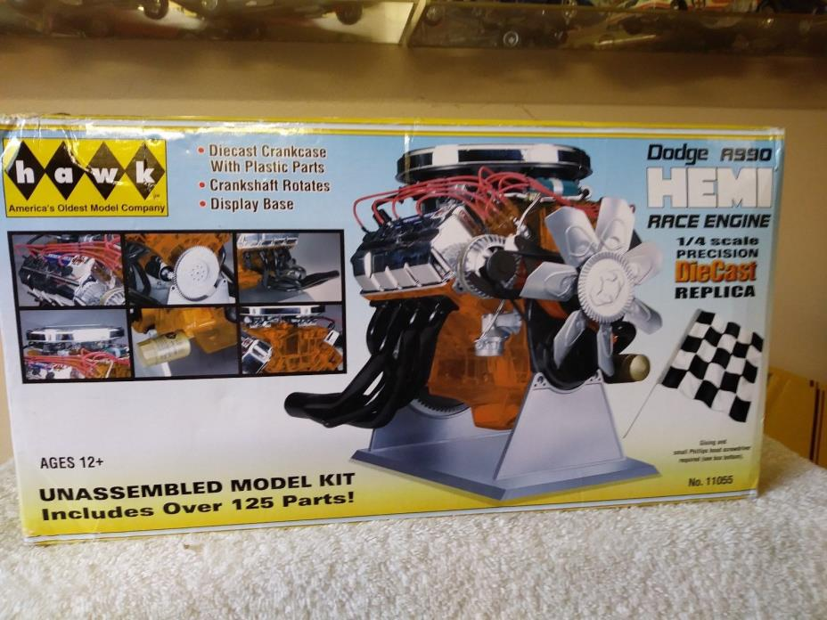 HAWK 1/4 Scale Model Motor Kit Dodge A900 Hemi Race Engine #11055 SEALED