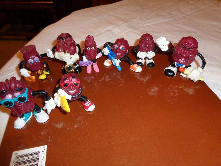 California Raisins Figurines Lot Of 11 3 RAMP WALKERS OR WIND UP WORK