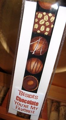 Chocolate and Friendship OOAK Bookmark~Linda Lee Taylor Designs~FREE SHIP BMK25