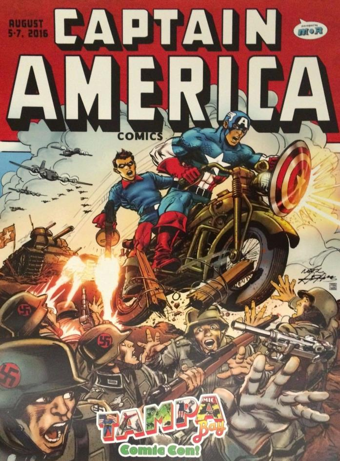 Neal Adams Art Convention Exclusive Marvel Comic Art Poster ~ Captain America