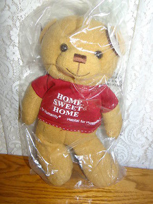 HABITAT FOR HUMANITY SAWYER HOME SWEET HOME TEDDY BEAR LIMITED EDITION PLUSH NEW