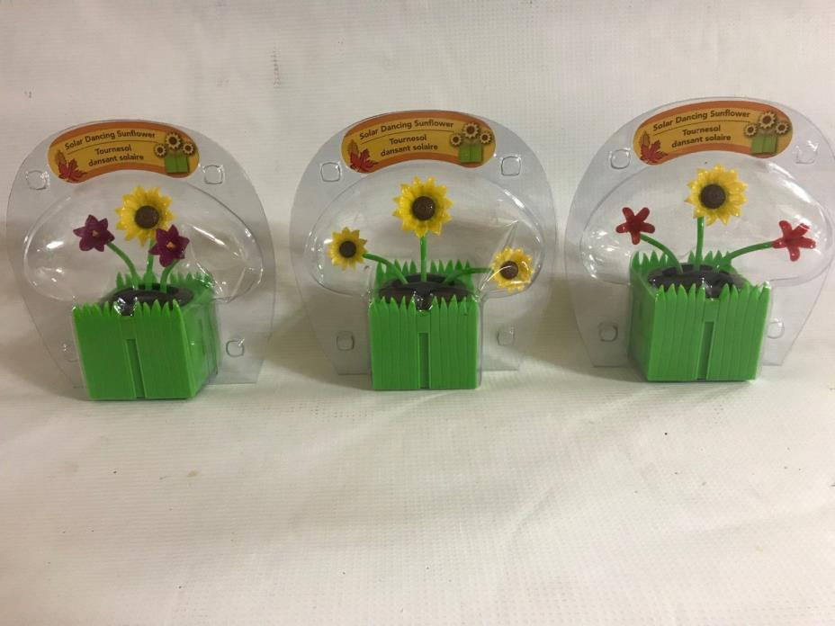 Flower Themed Solar Dancers - 3 Pack (Package J16)