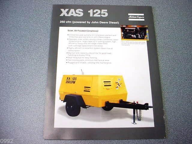 Atlas Copco XAS 125 Portable Compressor John Deere Diesel Brochure