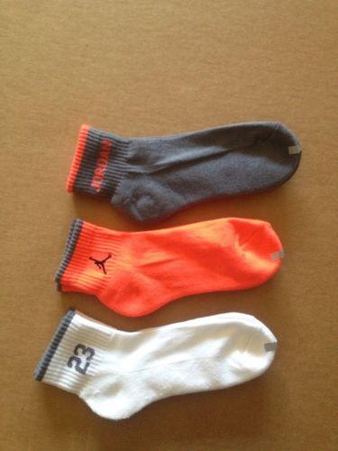 Nike Air Jordan Quarter Kids Boys Socks Sz M 9-11 (5Y-7Y) 3 Pair NWOT.