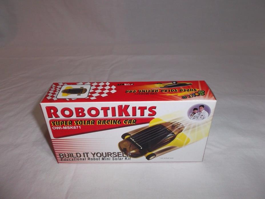 Robotikits Super Solar Racing Car Kit Mini Race Car (OWI- MSK671) NEW/Sealed