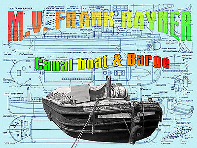 Build model boat 4 R/c Canal boat & Trent canal barge full size Printed PLANS