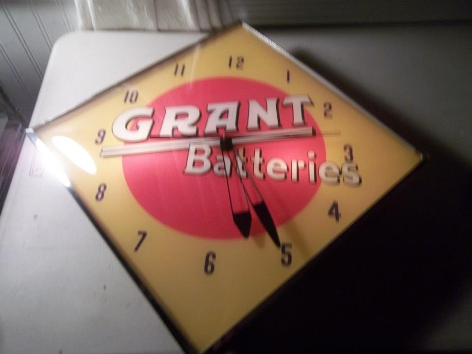 Vintage Pam Clock Grant Batteries