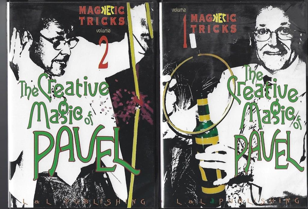The Creative Magic of Pavel - Volumes one + two Magic tricks - 2 DVD's