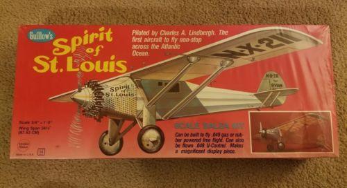 Guillow's HUGE SPIRIT of St. LOUIS Balsa Wood Model Airplane Kit #807 Lindbergh