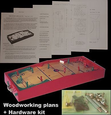 WOODWORKING PLANS + HARDWARE KIT. Munro TABLE HOCKEY game D-I-Y Plans + Hardware