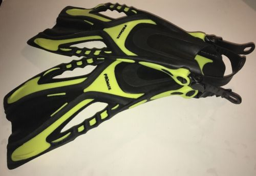 Promate Pace Snorkeling Fins Yellow Scuba Diving Flippers Youth Junior Large XL