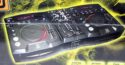 New Mr. DJ CDMix-800 Pro Dual CD/SD/MP3/HD DJ Player with Mixer and Scratch