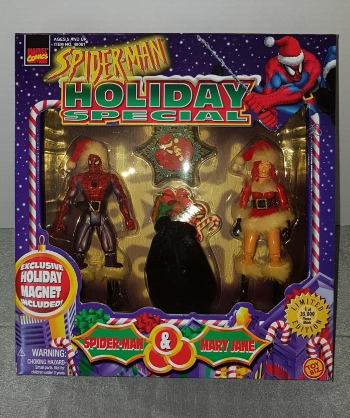 MARVEL COMICS SPIDER-MAN HOLIDAY SPECIAL ACTION FIGURE SET NOS MIB LIMITED E.