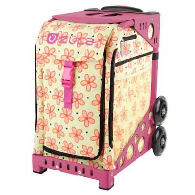 Zuca Flowerz Insert Bag & Pink Frame with Flashing Wheels