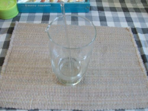 30 oz Etched Glass Pitcher with Glass Stir Stick
