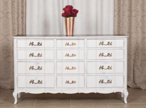 Shabby Chic French Provincial 12 Drawer Dresser made by Permacraft