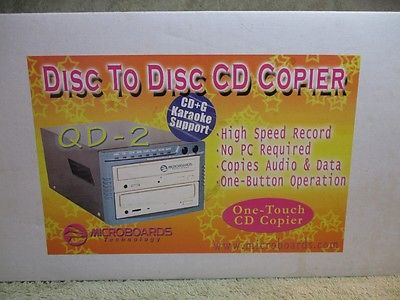 Disc To Disc 56x CD COPIER Microboards Technology QD20841 CD+G Karaoke Support