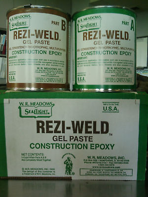 REZI-WELD GEL PASTE CONSTRUCTION EPOXY QUART UNIT