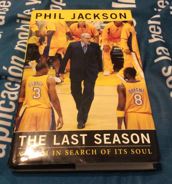 PHIL JACKSON SIGNED THE LAST SEASON BOOK NBA HOF LAKERS KNICKS 13X CHAMP