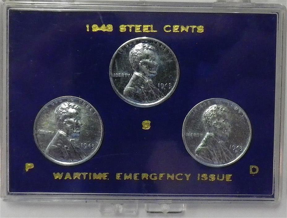 1943 Steel Cents Wartime Emergency Issue - For Sale Classifieds