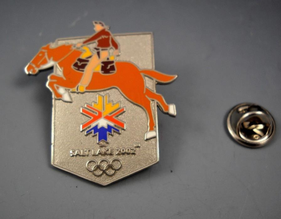 Salt Lake 2002 Olympics Limited Edition Collector's Pin Horse and Rider 1/2002
