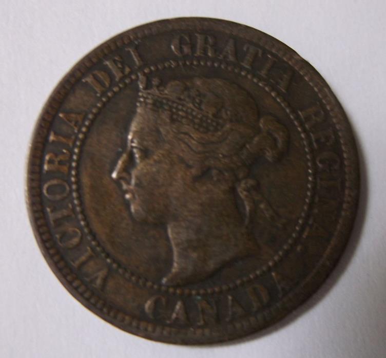 1899 Canada Victoria Dei Gratia One Cent