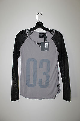New Harley-Davidson Sheer Sleeve slim fit long sleeve t-shirt women's XS