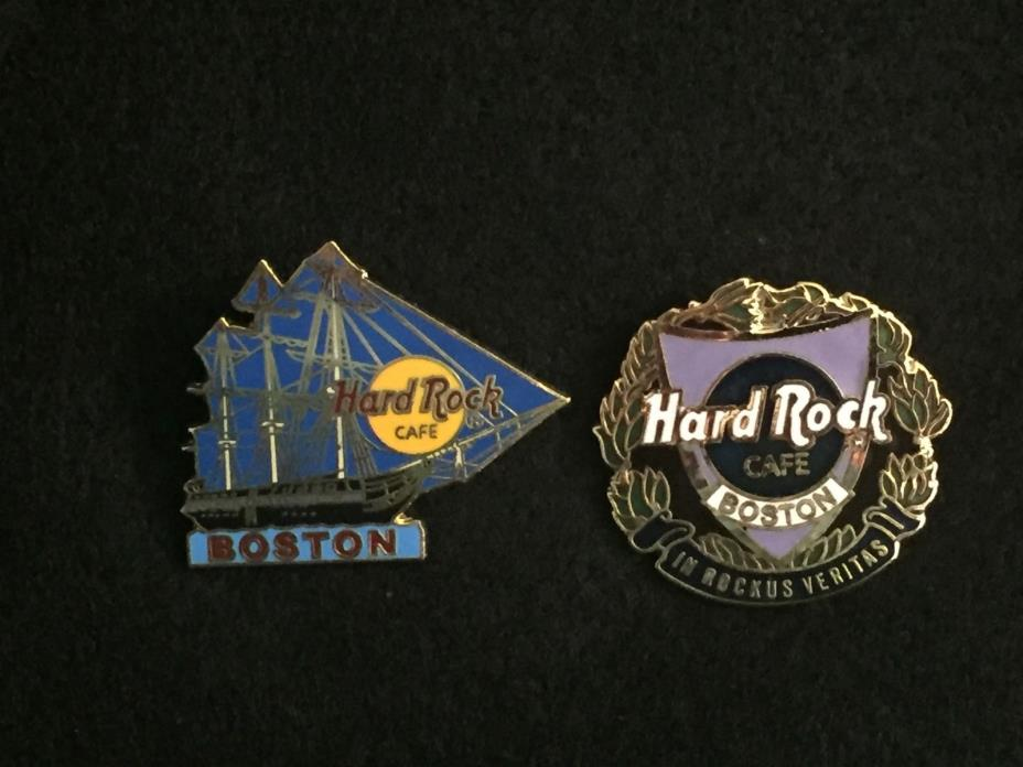 2 Hard Rock Cafe pins from BOSTON