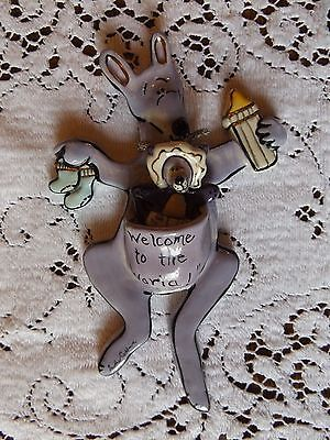 Blue Sky Clayworks Heather Goldminc Kangaroo Joey Wall Hanging Baby Decor