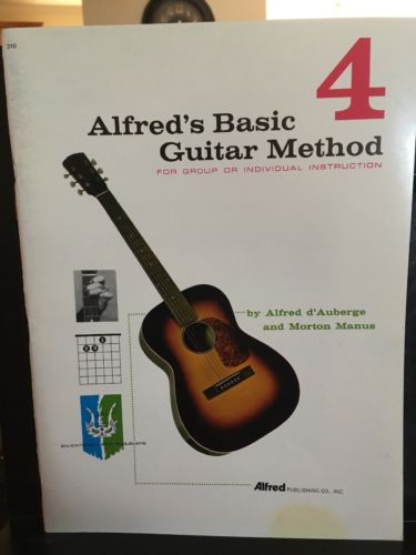 Alfred's Basic Guitar Method Book 4 Paperback Music Book