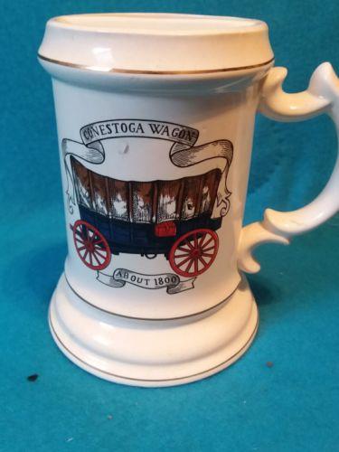 vintage mustash mug, 1930s 1940s