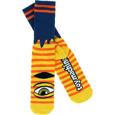 Toy Machine Sect Eye Stripe Sock, Orange, OS