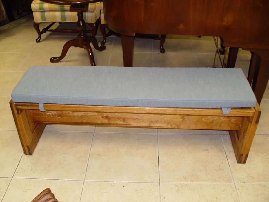 WOODEN BENCH W/ CUSHION